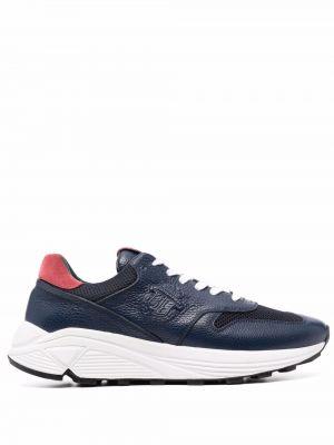 Синие кроссовки сетчатые с тиснением Billionaire