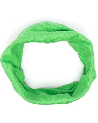 Зеленый снуд с вышивкой стрейч Raf Simons