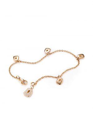 Różowa złota bransoletka ze złota z diamentem Mattioli