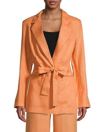 Оранжевая длинная куртка с поясом с воротником 525 America