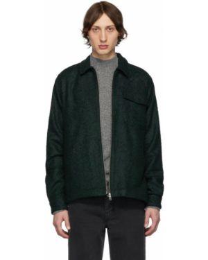 Черная длинная куртка с манжетами букле с карманами Schnaydermans