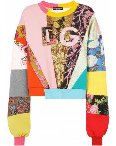 Sweter z okrągłym dekoltem okrągły z długimi rękawami z wiskozy Dolce And Gabbana