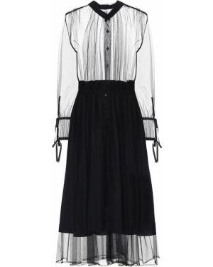 Платье миди из фатина темный Noir Kei Ninomiya