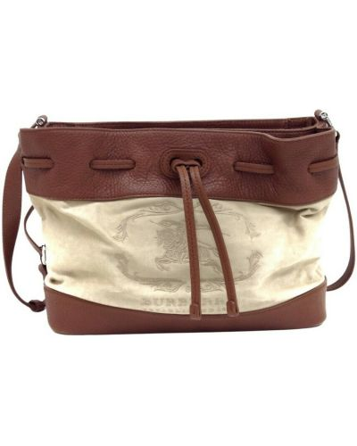 Beżowa torba na ramię Burberry Vintage