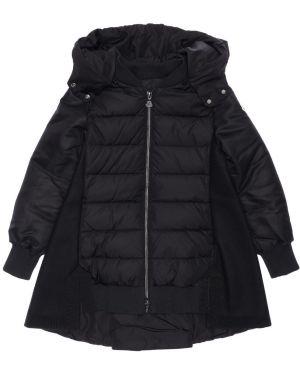 Пальто с капюшоном на молнии на кнопках Moncler