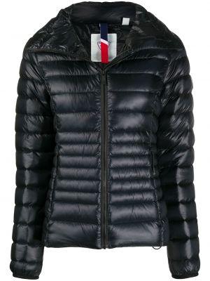 Черная стеганая куртка с нашивками на молнии с воротником Rossignol