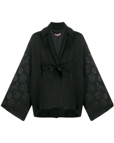 Прямая черная длинная куртка Romeo Gigli Pre-owned