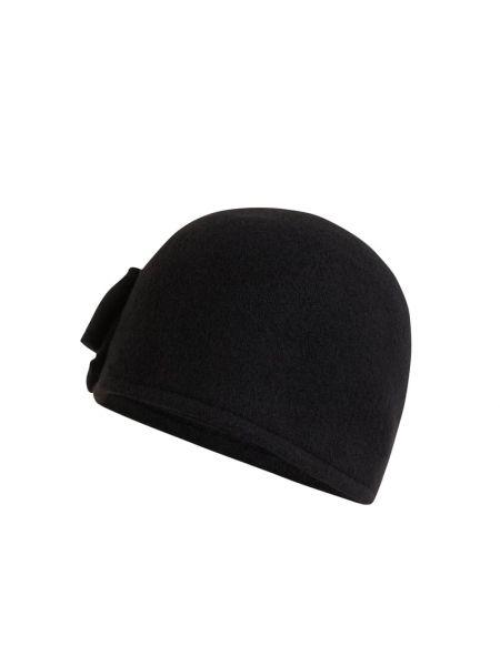 Czarny wełniany czapka Loevenich