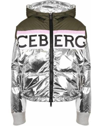 Куртка с капюшоном серебряного цвета Iceberg