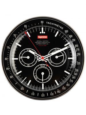 Czarny zegarek z printem Supreme