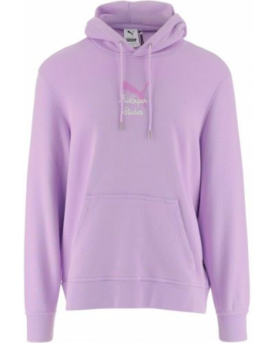 Fioletowy sweter oversize Puma