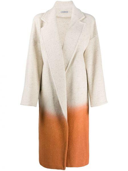 Klasyczny beżowy płaszcz wełniany Dusan