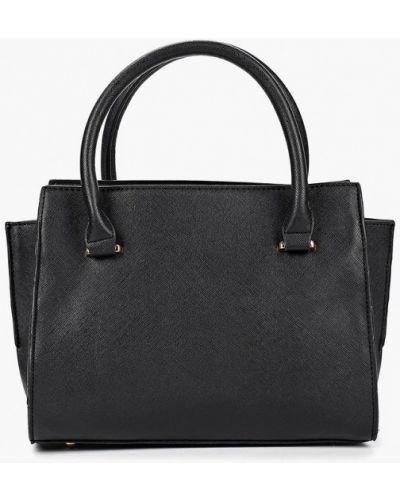 Кожаная сумка черная из искусственной кожи Jennyfer