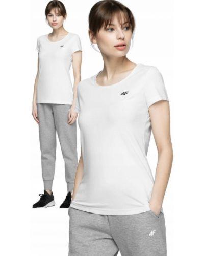 Bawełna bawełna t-shirt okrągły 4f