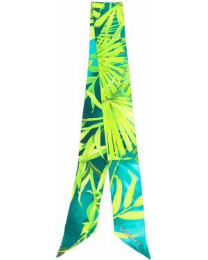 Зеленая шелковая резинка для волос Versace