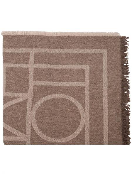 Szalik prążkowany wełniany Toteme