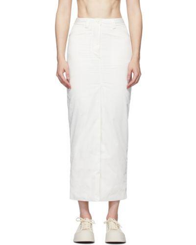 Biały spódnica maxi z kieszeniami Sunnei