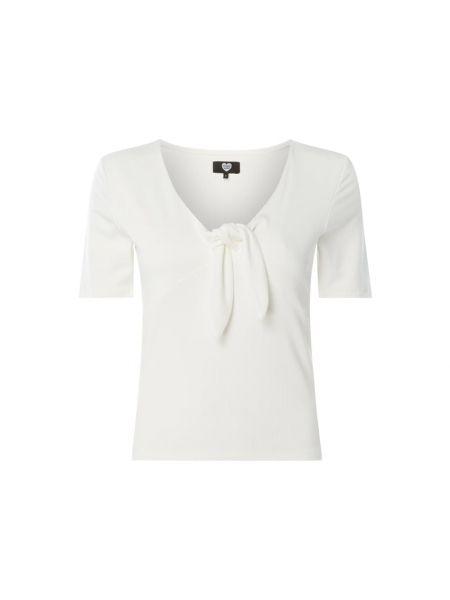 Biała bluzka z wiskozy z dekoltem w serek Catwalk Junkie