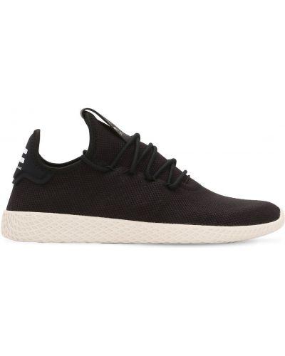 Koronkowa czarny sneakersy zasznurować Adidas Originals