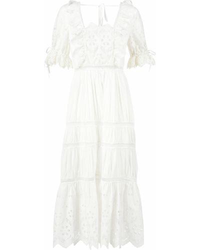 Хлопковое платье - белое Self-portrait