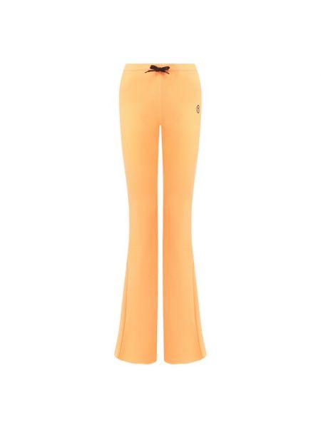 Хлопковые оранжевые брюки Filles A Papa