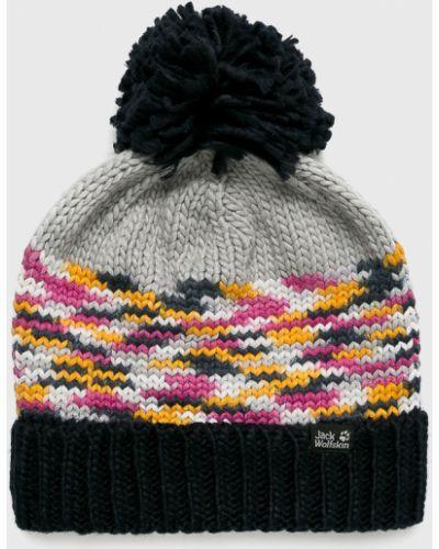 Зимняя шапка с отворотом с помпоном Jack Wolfskin