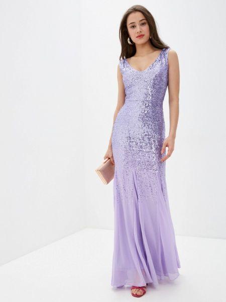Вечернее платье фиолетовый весеннее Goddiva