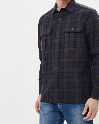 Синяя рубашка с длинным рукавом Burton Menswear London