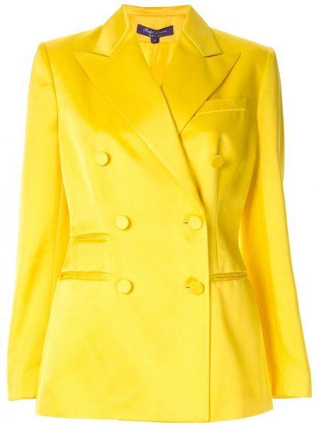 С рукавами желтая куртка двубортная Ralph Lauren Collection