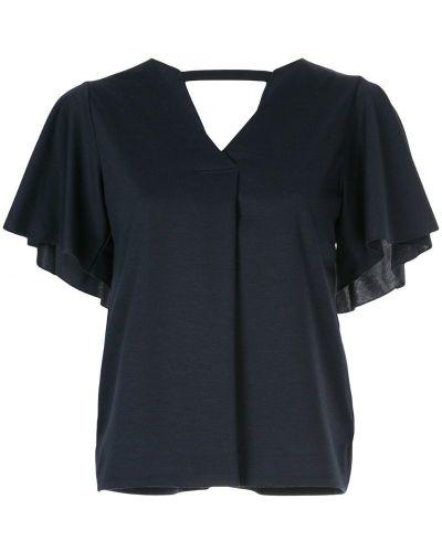Блузка с коротким рукавом синяя Loveless