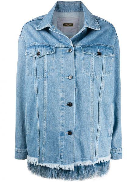 Синяя джинсовая куртка с воротником с карманами Simonetta Ravizza
