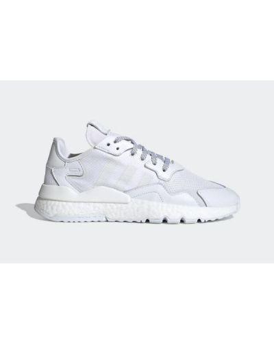 Białe joggery skorzane Adidas