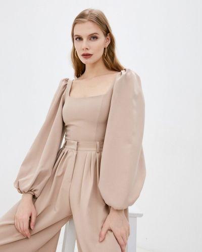 Брендовая бежевая блузка Lipinskaya Brand