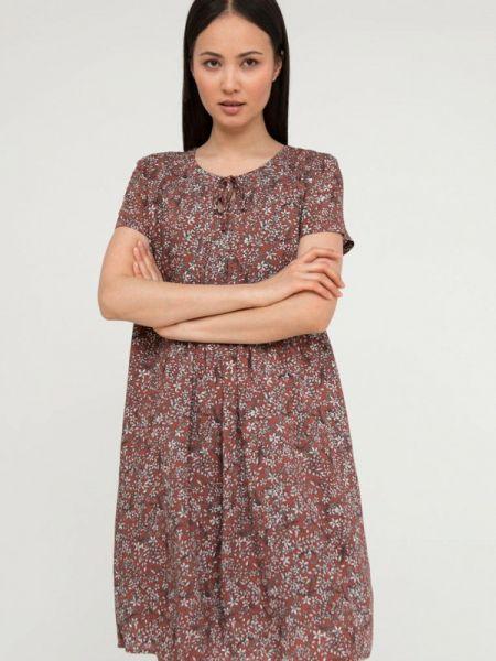 Свободное коричневое расклешенное повседневное платье Finn Flare