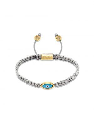 С кулиской серебряный нейлоновый золотой браслет позолоченный Nialaya Jewelry