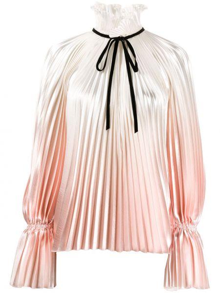 Блузка с вырезом - белая Philosophy Di Lorenzo Serafini
