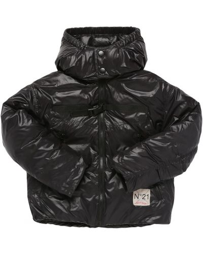 Куртка с капюшоном - черная N21