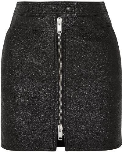 Czarna spódnica mini skórzana Givenchy