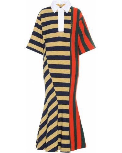 Платье миди в полоску платье-майка Loewe