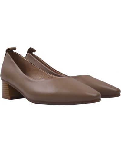 Кожаные туфли - бежевые Berkonty