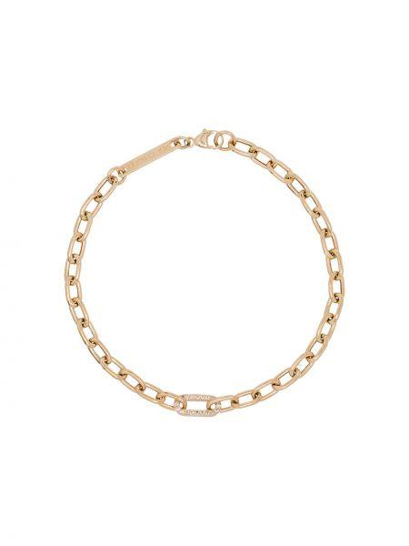 Повседневный с ромбами желтый золотой браслет с бриллиантом Zoë Chicco