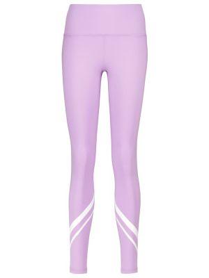 Фиолетовые тренировочные компрессионные спортивные леггинсы Tory Sport