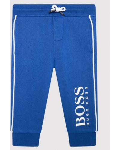 Spodnie dresowe - niebieskie Boss