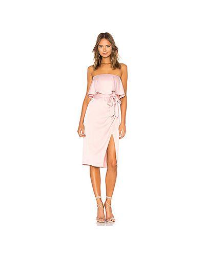 Платье мини розовое миди Lovers + Friends
