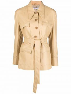 Кожаная куртка на пуговицах Rejina Pyo
