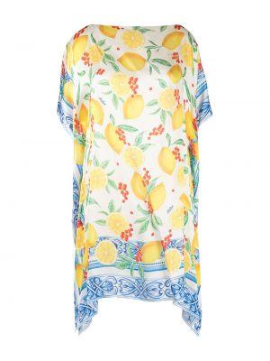 Шелковая блузка - желтая Mc2 Saint Barth