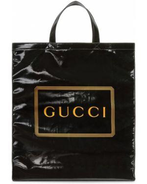 Сумка тоут - черная Gucci