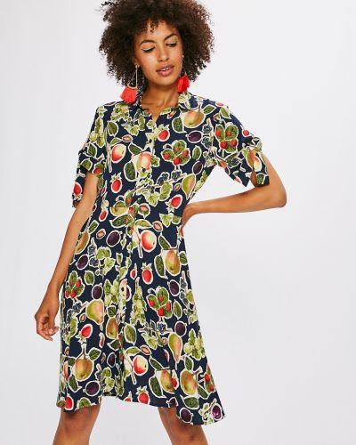 Платье мини из вискозы на пуговицах Medicine