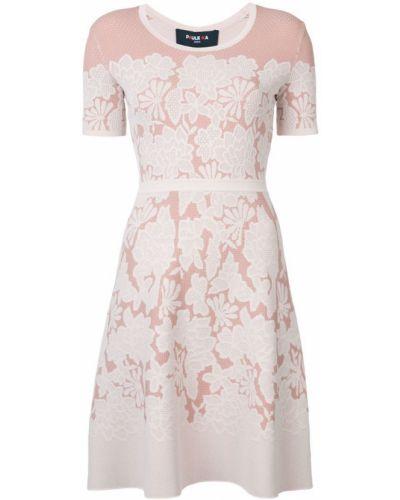 Платье мини с цветочным принтом с вырезом Paule Ka