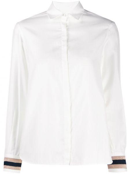 Классическая рубашка с воротником с вышивкой с манжетами на пуговицах Barba
